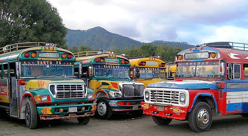 Antigua chicken buses
