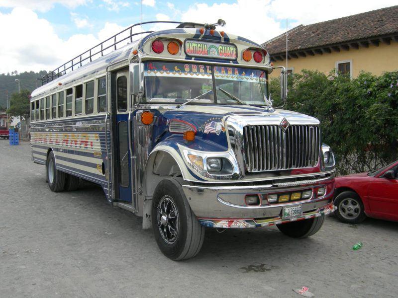 guatemala chicken buses