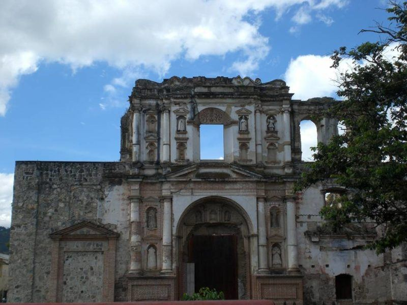 One of the many churches in Antigua