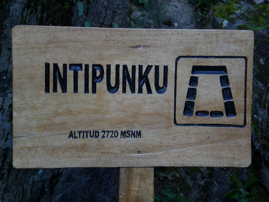 Intipunku is reached before dawn on day 4 of the hike