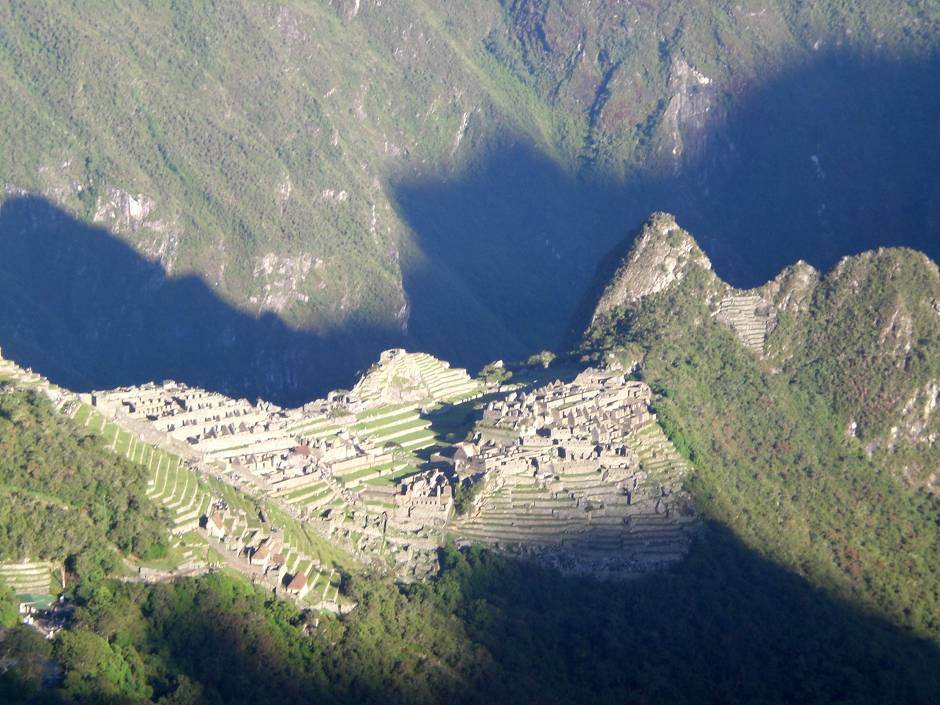 A spectacular view of Machu Picchu from the Inti Punku