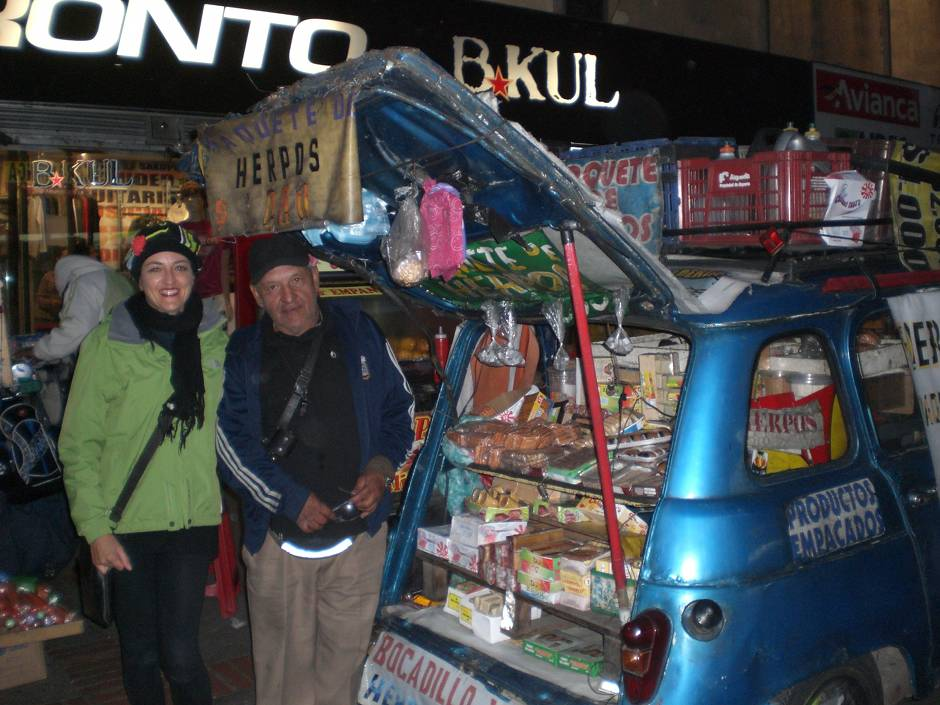 Things to do in Bogota: snapping as many Renault 4 as possible. This nice man is an institution in Bogota!