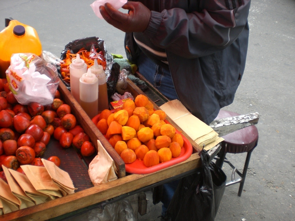 What to do in Bogota: trying street food!
