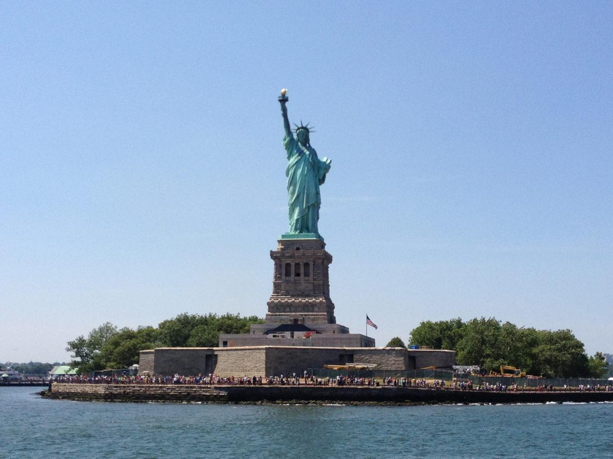 The Statue of Liberty is one fo the symbols of the United States - photo courtesy of Sue Waters (flickr)