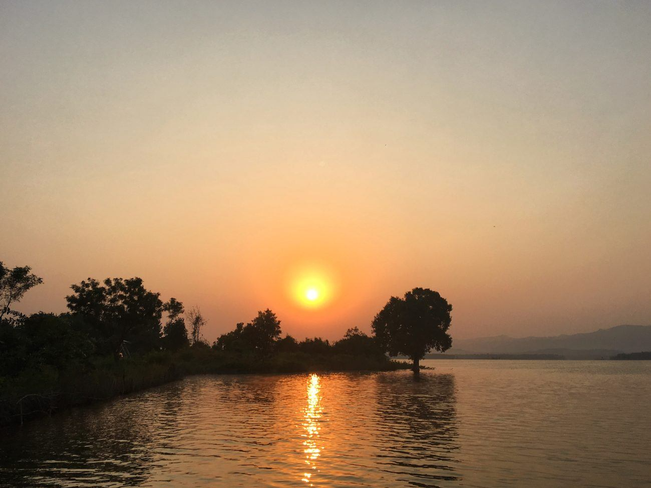 A gorgeous sunrise welcomes people to the Satpura Tiger Reserve in Madhya Pradesh