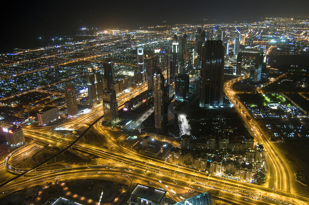 Dubai looks splendid at night - photo courtesy of Crazy Diamond (flickr)
