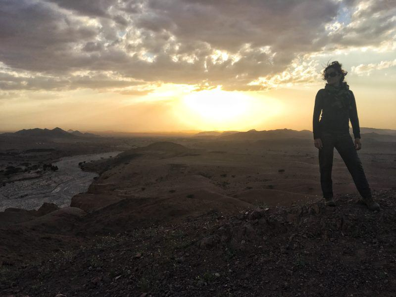 The sunset from Feynan, along the Jordan Trail, was stunning
